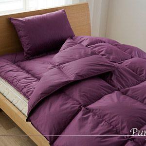 イングランド産ダウンファイバー100%使用 増量掛布団 寝具3点セット パープル