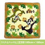 ディズニーボアラグ 「ハナとハッパと」正方形185cm×185cm 画像1