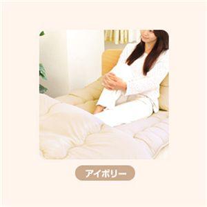 ピーチスキン加工 寝具4点 ダブル【フローリング・床用】 アイボリー