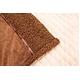マイクロファイバーぬくぬく2枚合わせ毛布(ボリュームタイプ) ダブル ブラウン