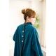 着るブランケット NuKME(ヌックミィ) 袖付き毛布 ターコイズブルー 写真3