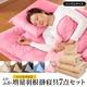 マットレス付きふかふか増量羽根布団寝具 <br>7点セット シングルサイズ ピンク×パールピンク 写真1