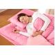 マットレス付きふかふか増量羽根布団寝具 <br>7点セット シングルサイズ ピンク×パールピンク 写真3