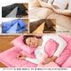 マットレス付きふかふか増量羽根布団寝具<br>7点セット シングルサイズ ディープブルー×ライトブルー 写真4