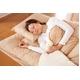 マットレス付きふかふか増量羽根布団寝具<br>7点セット シングルサイズ ベージュ×アイボリー 写真3