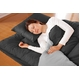 マットレス付きふかふか増量羽根布団寝具<br>7点セット シングルサイズ ブラック×シルバー 写真3