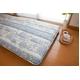 東洋紡フィルファーモニィ綿使用 ボリューム3層式 敷布団 シングルサイズ ブルー系柄おまかせ 写真3