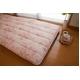 東洋紡フィルファーモニィ綿使用 ボリューム3層式 敷布団 セミダブルサイズ ピンク系柄おまかせ 写真3