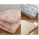 東洋紡フィルファーモニィ綿使用 ボリューム3層式 敷布団 セミダブルサイズ ピンク系柄おまかせ 写真5