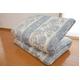 東洋紡フィルファーモニィ綿使用 ボリューム3層式 敷布団 セミダブルサイズ ブルー系柄おまかせ 写真2