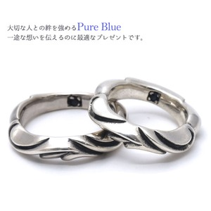 PureBlue Wave&Heartリング 9号 f06