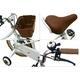 子供用補助輪つき自転車 16インチ ホワイト 練習用器具つき - 縮小画像2