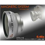 デジタルカメラ用 マグネット式広角0.45Xワイドコンバージョンレンズ(S)(L)