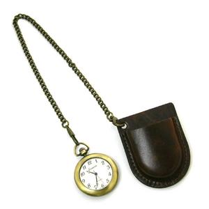 アンティーク調ブラス風懐中時計 - 拡大画像