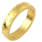 ステンレスリング アラベスク模様 ゴールドカラー 15号