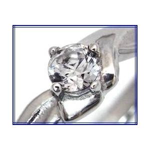 スーパーエクセレントカット ジルコニア ribbon ステンレスリング 7号 h03