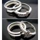 シルバー製リング 人工ダイヤのクロス 取り外し可能3WAY 9号 - 縮小画像4