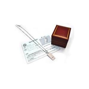 天然ピンクダイヤモンドのシルバーネックレス  クロスラインァ  廛譟璽ネ