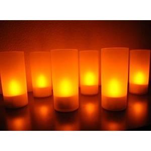 充電式LEDキャンドルライト6個セット