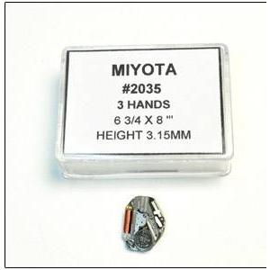 腕時計パーツ ウォッチムーブメント シチズン用 MIYOTA2035 3個組 - 拡大画像