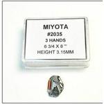腕時計パーツ ウォッチムーブメント シチズン用 MIYOTA2035 3個組