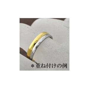 ステンレスリング ダイヤモンドカット細身リング シルバーカラー 5号 h03