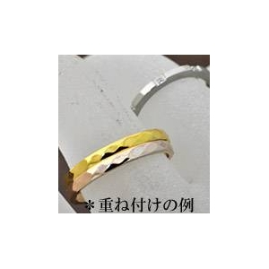 ステンレスリング ダイヤモンドカット細身リング ピンクゴールドカラー 5号 h03