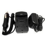 マルチバッテリー充電器〈エコモード搭載〉 NB-3L(キヤノン)、DR-LB4(コニカミノルタ)用アダプターセット USBポート付 変圧器不要
