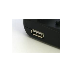 マルチバッテリー充電器〈エコモード搭載〉 NB-5L(キヤノン)用アダプターセット USBポート付 変圧器不要