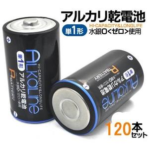 【120本セット】単1形アルカリ電池 業務用最適・カートン買い!