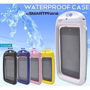【ブルー】スマートフォン用防水ケース - 拡大画像