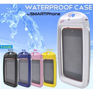 【ホワイト】スマートフォン用防水ケース - 拡大画像