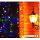 屋外用ソーラーイルミネーションカラフルライト 96灯LEDコード カーテンタイプ(1×1m) - 縮小画像2