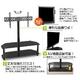 52型まで使用可 壁よせタイプ液晶テレビスタンド ガラス製ブラック - 縮小画像5