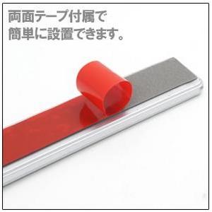 カーデコレーションLEDライト 車用ドアフラッシャー 両面テープ付で貼り付け簡単 【4個セット】