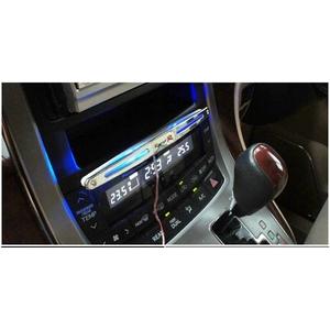 12車対応カーデコレーション用 センターコンソール ブルーLEDライト 両面テープ付で貼り付け簡単 【4個セット】 - 拡大画像