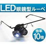 LED付 眼鏡型アイルーペ(ヘッドルーペ) 10倍