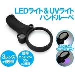 LED UVライト搭載 3レンズハンドルーペ