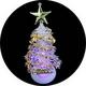 【2個セット】USB/電池両用! 卓上ミニクリスマスツリー 7色グラデーション変化 - 縮小画像2