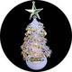 【2個セット】USB/電池両用! 卓上ミニクリスマスツリー 7色グラデーション変化 - 縮小画像3