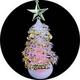 【2個セット】USB/電池両用! 卓上ミニクリスマスツリー 7色グラデーション変化 - 縮小画像4