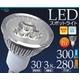 LED電球 E11型 3Wスポットライト 白色 【10個セット】 - 縮小画像1