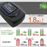 マルチバッテリー充電器〈エコモード搭載〉Canon(キヤノン)LP-E10用アダプターセット USBポート付 変圧器不要