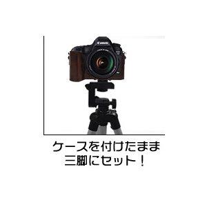 【カメラケース】Canon(キヤノン)EOS 5DMARKIII レンズキット対応 レザーブラウン f05
