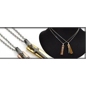 ステンレス製ネックレス プレート&クロス ジルコニアラインストーン アズキチェーンつき ゴールド f04