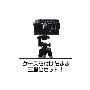 【カメラケース】キヤノン(Canon) SX280 HS カメラケース 首掛け可レザーブラウン h03
