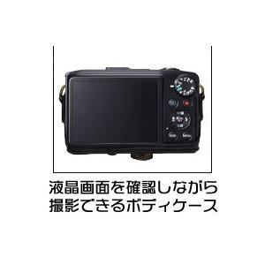 【カメラケース】キヤノン(Canon) SX280 HS カメラケース 首掛け可レザーブラウン f04