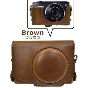 【カメラケース】キヤノン(Canon) SX280 HS カメラケース 首掛け可レザーブラウン f06