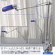 横長アームデスクライト ブルー/シルバー 白色LEDライト - 縮小画像3