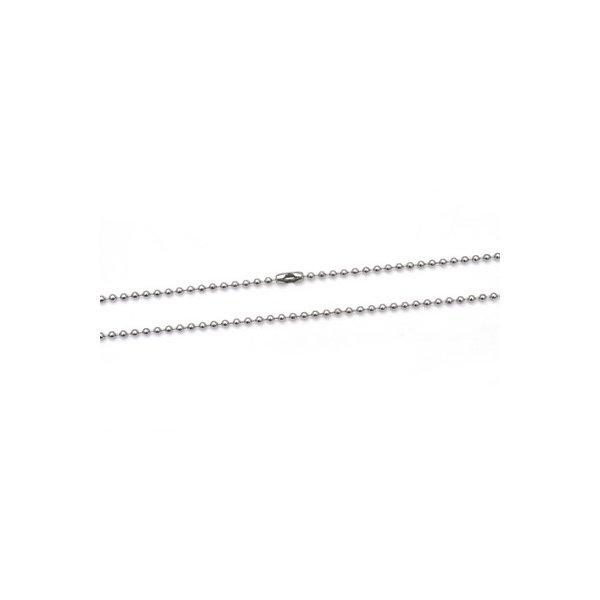 【10本組】ステンレス製ネックレス ボールチェーン幅2.4mm/全長70cmf00